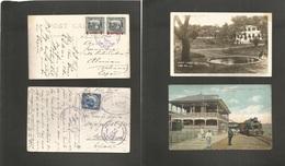 Salvador, El. 1925. Alegria And San Salvador. 2 Multifkd Ppcs To Spain. Rare Destination. - El Salvador