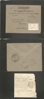 Saudi Arabia. 1933 (19 Sept) Mecca - Belgium, Welkenraedt. Via Djeddah - Port Taufik, Egypt. Official PO Registered Prin - Saudi Arabia