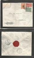 Saudi Arabia. 1939 (27 June) Dyeddah - Denmark, Copenhagen (10 July) Registered Multifkd Envelope Via Alexandria - Port  - Saudi Arabia