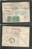 Saudi Arabia. 1946 (22 Sept) Mecca - Uk, London. Registered Multifkd Airmail Envelope. Via Djeddah, Forwarded. Some Stam - Saudi Arabia
