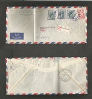 Saudi Arabia. 1953 (15 Dec) Mecque - Sweden, Stockholm. Registered Multifkd Env Comercial Usage With Swedish Registered  - Saudi Arabia
