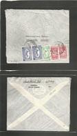 Saudi Arabia. 1956 (18 Jan) Dyeddah - Sweden, Stockholm. Air Multifkd Envelope With Unusual Combination Of Stamps Values - Saudi Arabia