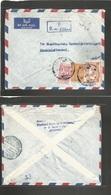 Saudi Arabia. 1960 (20 Oct) Djeddah - Sweden, Stockholm, Registered Fkd Env With Special Issues, Bilingual Cachet + Gene - Saudi Arabia