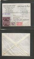 Saudi Arabia. 1962 (10 Feb) Jeddah Asheaf - Germany, Munich. Air Multifkd Mixed Issues + Cacheted Envelope. VF - Saudi Arabia