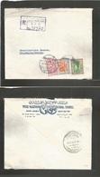 Saudi Arabia. 1963. Jeddah, SS3 - Sweden, Stockholm. Via Cairo. Registered Multifkd Envelope. Fine. - Saudi Arabia