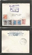 Saudi Arabia. 1963. Jeddah - Sweden, Stockholm. Registered Air Multifkd Usage, Incl Former Mixed Issue. Fine. - Saudi Arabia
