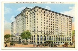 Canada Vintage Postcard The Mount Royal Hotel - Montreal, Quebec - Montreal