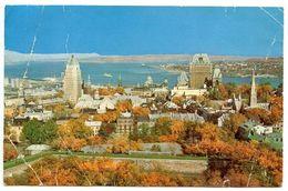 Canada Modern Postcard View Of Quebec City And Isle Of Orleans - Québec - La Cité