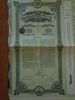 ROUMANIE / ORASUL BRAILA / OBLIGATION 4 1/2% DE 1000  LEI / 1912 / DECO / LOT DE 5 TITRES IDENTIQUES - Actions & Titres