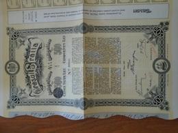 ROUMANIE / ORASUL BRAILA / OBLIGATION 4 1/2% DE 500 LEI / 1912 / DECO / LOT DE 5 TITRES IDENTIQUES - Non Classificati