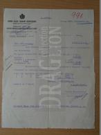 DC30.18 Hungary  Forgácsoló Szerszámok Gyára - Budapest  1952 - Invoices & Commercial Documents