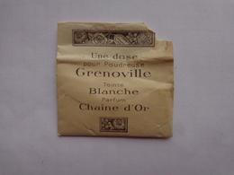 Une Dose (ouverte)pour Poudreuse Grenoville Parfum Chaine D'or - Parfums & Beauté