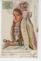 POLOGNE - POLAND - Jolie Carte Portrait Femme - Illustrateur Z ZIEMI SIERADZKIEJ - Poland