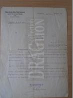 DC31.1 Hungary DUNA-DRÁVA-SZÁVA Railway Company - (Déli Vaspálya) 1929  - Letter - Invoices & Commercial Documents