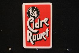 Playing Cards / Carte A Jouer / 1 Dos De Cartes Avec Publicité / 1/4  -  Cidrerie Ruwet Thimister (Thimister-Clermont) - Cartes à Jouer