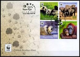 2018 Hungary, Wild Animals, Panda, Polar Bear, Elephant, Orangutan, WWF, FCD - Ongebruikt