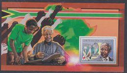 Guinée BF N° 333 XX Personnalité : Nelson Mendela, Minéral Et Colombe Paix, Le Bloc Sans Charnière, TB - Guinea (1958-...)