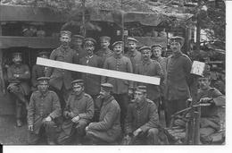 1916 Artois Festubert Villa Elisabeth Abris Soldats 11è Inf.Bay.Rgt. Casques à Pointes Sur étagère 1 Carte Photo Ww1 - War, Military