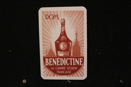 Playing Cards / Carte A Jouer / 1 Dos De Cartes Avec Publicité /  Bénédictine, La Grande Liqueur Française - Cartes à Jouer