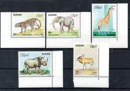 SUDAN, 1990, ANIMALS,5v. MNH** - Stamps