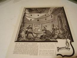 ANCIENNE PUBLICITE UN DE LA PLEIADE A CHANTE  PERRIER  1941 - Perrier