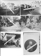 1918 Blérancourt Ambulances Ateliers Du Card Soldats Français Et Us Comité Américain Pour Les Régions Dévastées 6 Photos - Guerre, Militaire