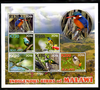 MALAWI, 2016, ENDANGERED BIRDS,S/S, MNH** - Oiseaux