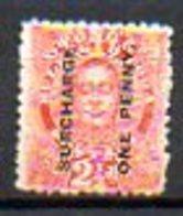 OCEANIE - TONGA - (Protetorat Britannique) - 1895 - N° 34 - ONE-PENNY S. 2 1/2 P. Vermillon - (Roi Georges II) - Samoa