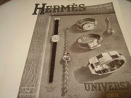 ANCIENNE PUBLICITE MONTRE HERMES 1939 - Bijoux & Horlogerie