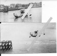 1923-28 Hydravion Supermarine Sea Eagle Transport Passagers Produit à 3exemplaires Traversée Southampton Le Havre 2phot. - Aviation