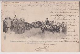 CEREMONIE DE SAINT AIL (54) : TRANSLATION DES CENDRES DES SOLDATS TUES EN 1870 - ROYER NANCY - ECRITE 1904 - 2 SCANS - - Otros Municipios