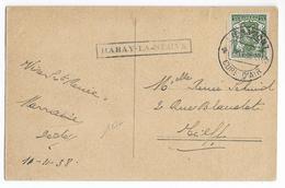 BELGIQUE - 1938 - CARTE De HABAY LA NEUVE Avec MARQUE LINEAIRE + DATEUR LIBRAMONT - Marcophilie