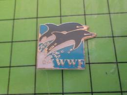 413e / PINS PIN'S Rare Et De Belle Qualité : THEME ANIMAUX / WWF DAUPHINS WORLD WILDLIFE FUND - Animals