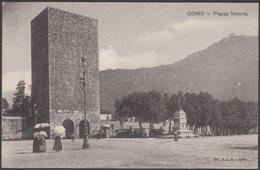 Plaza Vittoria, Como, Lombardia, C.1910 - R.E.V. Cartolina - Como