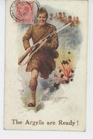 """GUERRE 1914-18 - Jolie Carte Fantaisie """"THE ARGYLLS ARE READY! """" Par C.T. HOWARD - War 1914-18"""