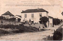CPA 88  VOSGES - DOMBROT Sur VAIR - Canton De Bulgnéville -  Café-Restaurant Pierrot.. Beau Plan Animé Verso Timbre Taxe - France