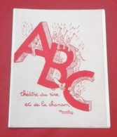 """Programme Théâtre ABC Montmartre Années 50 """"La Route Fleurie"""" Francis Lopez Georges Guétary Bourvil Annie Cordy - Programs"""