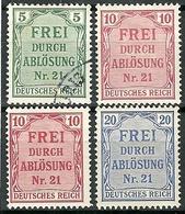 Allemagne - Année 1903 - Y&T Service N° 3-4-5- Ob Et * - Service