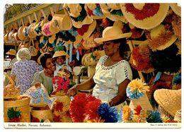Bahamas 1968 Postcard Nassau - Straw Market - Bahamas