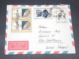 RWANDA - Enveloppe Pour La Suisse En 1971 , Affranchissement Plaisant - L 19897 - Rwanda