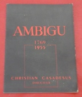 """Programme Théâtre De L'Ambigu 1955 """"Isabelle Et Le Pélican"""" Marcel Franck Marc Camoletti Renée Devillers Robert Murzeau - Programs"""
