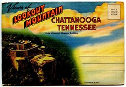 United States Vintage Souvenir Folder Postcard Lookout Mountain, Chattanooga, Tennessee - Chattanooga