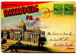 United States 1943 Souvenir Folder Postcard Harrisburg, Pennsylvania - Harrisburg