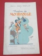 """Programme Théâtre De Montrouge 1929 """"Ciboulette"""" Raynaldo Hahn Roques Delaquerrière Jane Pyrac - Programs"""