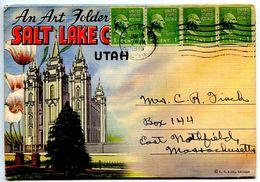 United States 1945 Souvenir Folder Postcard Salt Lake City, Utah - Salt Lake City
