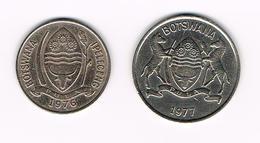 -&   BOTSWANA  10 En 25 THEBE  1976/1977 - Botswana