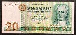 GERMANIA GERMANY Democratic Republic Ddr 20 Mark 1975  Fds  LOTTO 2017 - 20 Deutsche Mark