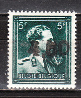 724W**  Leopold III Col Ouvert Surchargé GHISLENGHIEN - Bonne Valeur - MNH** - LOOK!!!! - 1946 -10%