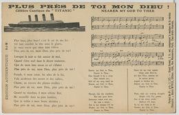 Chanson En Anglais Et Français En L' Honneur Du Titanic  Edit Henry Wykes - Catastrofi
