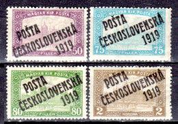 Cecoslovacchia-060 - Valori Del 1919 (+) Hinged - Senza Difetti Occulti. - Cecoslovacchia
